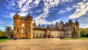Holyroodhouse宫殿在爱丁堡 免版税库存图片