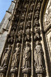 Holys on the main portal on the Cathedral of Our Lady in Antwerp. Belgium Royalty Free Stock Images
