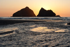 Holywell Bay Stock Images