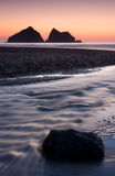 Holywell Bay Royalty Free Stock Photo