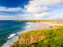Holywell Bay Stock Image