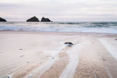 Holywell Bay Beach Royalty Free Stock Image