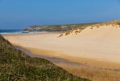 Holywell Bay beach North Cornwall coast England UK near Newquay and Crantock Stock Photography