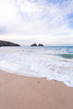 Holywell bay beach Stock Image