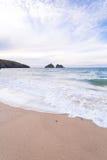 Holywell bay beach Stock Image