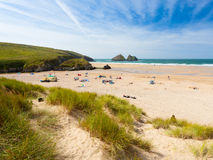 Holywell Bay Cornwall Stock Photography