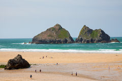 Holywell Bay Cornwall Stock Images