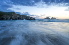 Holywell bay in Cornwall Uk England Royalty Free Stock Photography