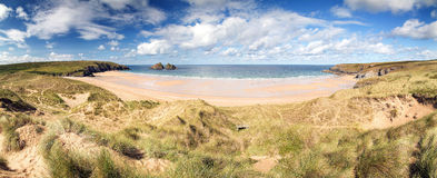 Holywell bay in cornwall uk Royalty Free Stock Images