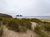 Holywell bay holiday resort on the good weekend royalty free stock images