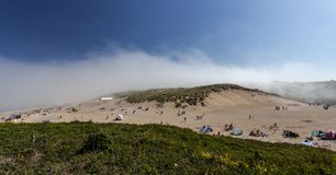 Holywell bay holiday resort on the good weekend stock image