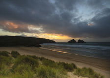 Holywell bay newquay cornwall Stock Photography