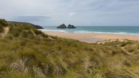 Holywell Bay North Cornwall coast England UK near Newquay and Crantock Stock Image