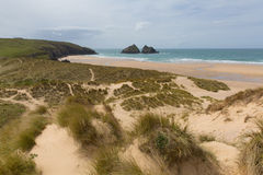 Holywell Bay North Cornwall England UK Near Newquay And Crantock Stock Photo