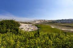 Holywell podpalany wakacyjny kurort na dobrym weekendzie zdjęcia stock