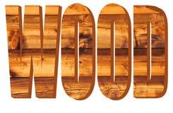 Holz in 3D Stockbild
