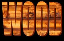Holz in 3D Lizenzfreie Stockfotografie