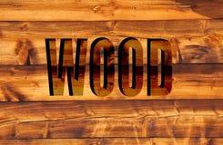 Holz in 3D Lizenzfreies Stockfoto