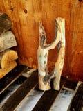 Holz als Kunst Stockfotos