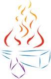 Holz auf Feuer Lizenzfreies Stockfoto
