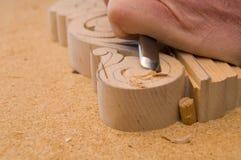 Holz, das 4 schnitzt Lizenzfreie Stockfotos