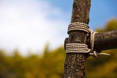 Holz gebunden für Zaun Lizenzfreies Stockbild