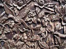 Holz geschnitzt Stockbild