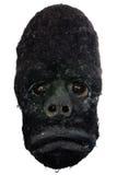 Holz geschnitzte afrikanische Gorillaschablone Stockfoto