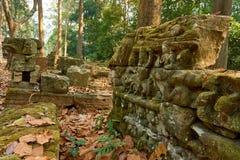 Holz im Tempel komplexer Angkor Wat Siem Reap, Kambodscha stockbild