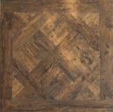 Holz-lamellenförmig angeordnete Fußbodenbeschaffenheit Lizenzfreie Stockbilder