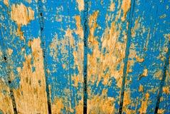 Holz mit alter blauer Farbe Lizenzfreies Stockfoto