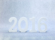 Holz mit 2016 Weiß Stockfotos