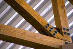Holz und Metall Lizenzfreies Stockfoto