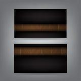 Hölzerne und schwarze Metallthema-Visitenkarteschablone Stockfotos