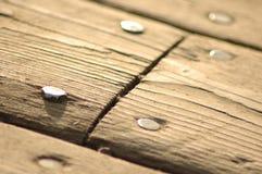Holz und Nägel Lizenzfreie Stockfotos