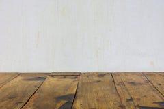Holz- und Wandhintergrund Lizenzfreie Stockfotografie