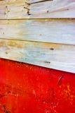 Holz und Ziegelsteingebäudewand Lizenzfreies Stockbild