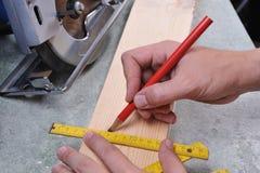 Holzarbeit Stockfoto