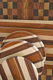 Holzarbeit-Hintergrund Stockfotos
