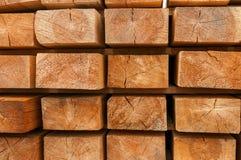 Holzbalken Stockfoto