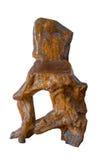 Holzbanken für Liebhaber, lokalisiert auf weißem Hintergrund Stockbild