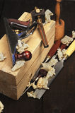 Holzbearbeitung-Hilfsmittel Stockfoto