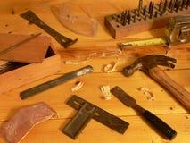 Holzbearbeitung-noch Leben Stockbilder