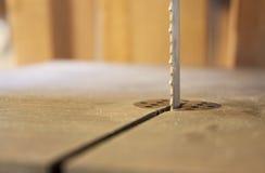 Holzbearbeitungmaschine Band sah Lizenzfreies Stockbild