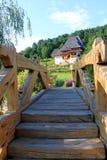 Holzbrücke Lizenzfreies Stockfoto