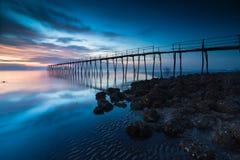 Holzbrücke stockfotos