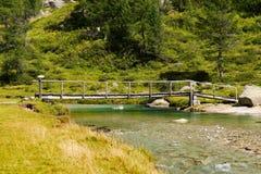 Holzbrücke - Adamello Trento Italien Lizenzfreies Stockfoto