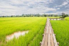 Holzbrücke 100 Jahre alt Lizenzfreies Stockfoto