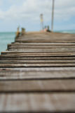 Holzbrücke in Koh Samet-Insel Thailand Stockfoto