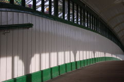 Holzbrücke Tynemouth-Station Stockfotos